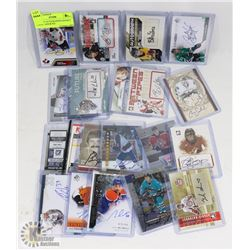 LOT OF 21 AUTOGRAPHED HOCKEY CARDS - ASSORTED