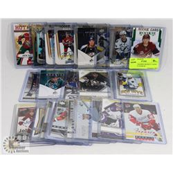 LOT OF 25 ROOKIE HOCKEY CARDS - ASSORTED YEARS &