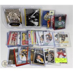 LOT OF 41 HOCKEY CARDS INCL BOBBY ORR AND GORDIE