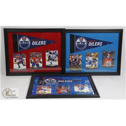 LOT OF 3 CONNOR MCDAVID FRAMED CARD PICTURES.