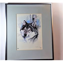 8)  SIGNED UNDER GLASS, FRAMED & MATTED
