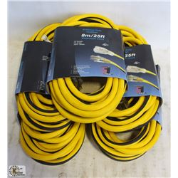 5 EXTREME DUTY OUTDOOR 25FT EXTENSION CORD