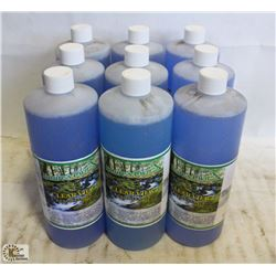 9 BOTTLES OF NATURE'S OWN CLEAR VIEW GLASS CLEANER