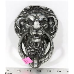 CAST METAL LIONS HEAD DOOR KNOCKER