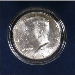 SCARCE KEY DATE U.S 1987 JFK HALF DOLLAR COIN