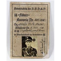 NAZI SS NSDAP ID.