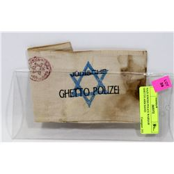 NAZI JEWISH POLICE WARSAW GHETTO ARM BAND