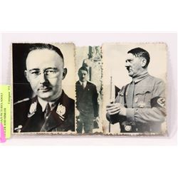 LOT OF 3 NAZI PICTURES ADOLF HITLER AND HIMLER