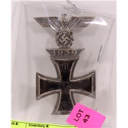 1939 GERMAN CROSS MARKED GES GESCH.