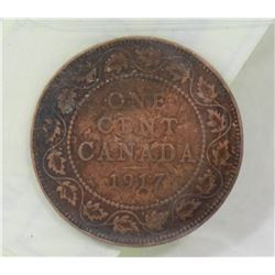 1917 CANADIAN LARGE PENNY.