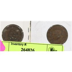 LOT OF 2 USA 1902-1903 INDIAN HEAD PENNIES