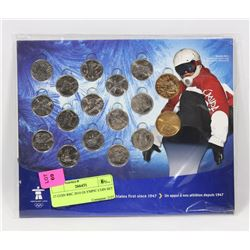 17 COIN RBC SPONSORED 2010 OLYMPIC COIN SET