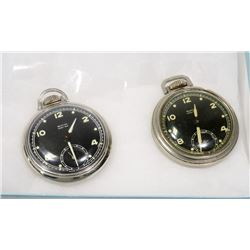 TWO WESTCLOX POCKET BEN SERIES POCKET WATCHES
