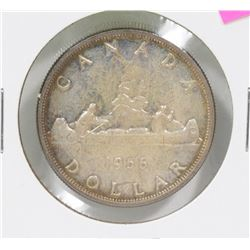 UNCIRCULATED CANADIAN 1956 QEII SILVER $1 COIN