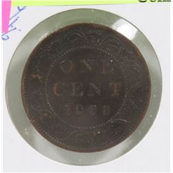 KEY DATE 1898 CANADIAN QUEEN VIC 1 CENT COIN