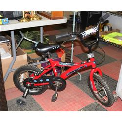 CHILDREN'S XR14 SUPER CYCLE WITH TRAINING WHEELS