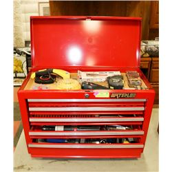 WATERLOO SHOP SERIES 5 DRAWER TOOL BOX WITH TOOLS