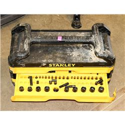 POLICE SEIZURE STANLEY TOOLBOX WITH CONTENTS