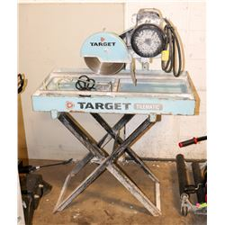 """TARGET 10"""" WET TILE SAW WITH A BALDOR ELECTRIC"""