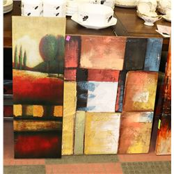 LOT OF 2 STRETCHED CANVAS SHOWHOME ARTWORK
