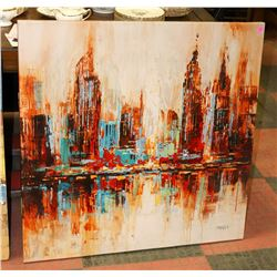 STRETCHED CANVAS CITY SHOWHOME ARTWORK