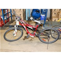 POLICE SEIZURE SUPERCYCLE JS014 RED AND WHITE BIKE