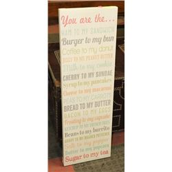 "SHOWHOME CANVAS QUOTE WALL ART, 11.5""X36"""