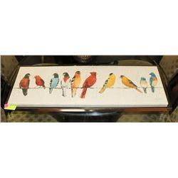 "FRAMED SHOWHOME BIRD CANVAS WALL ART 38""X14"""