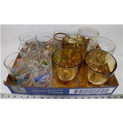 FLAT OF VINTAGE GLASSES