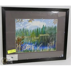 """17""""X21"""" OIL PICTURE OF HAWSON LAKE BY CARYLE"""