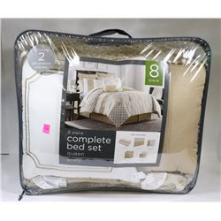 8PC COMPLETE QUEEN SIZE BED SET