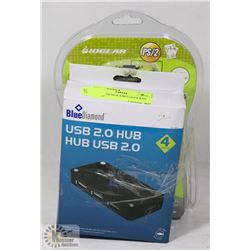 SET OF USB HUB AND LOGER KMS SWITCH