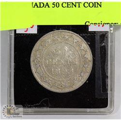 1899 NEWFOUNDLAND 50 CENT COIN