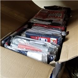 BOX OF NEW VARIOUS FLAGS