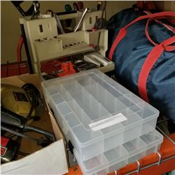 TOOL CADDY W. CONTENTS AND 2 AS NEW PARTS ORGANIZERS
