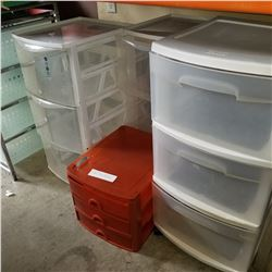 3-DRAWER PLASTIC ORGANZIERS AND SMALL 3 DRAWER ORGANIZER