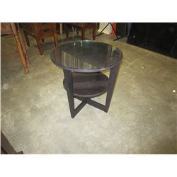 MODERN ROUND 2-TIER END TABLE