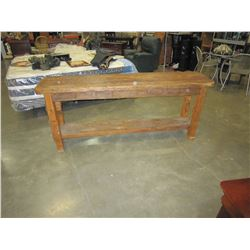 2-TIER RUSTIC 2 DRAWER SOFA TABLE