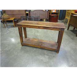 RUSTIC BURLED SOFA TABLE