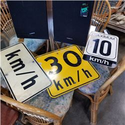 METAL SPEED LIMIT SIGNS