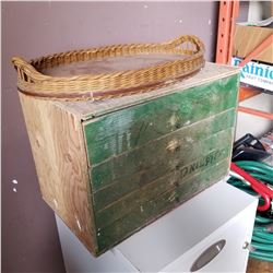 WOODEN TOOL CHEST W/ DRAWERS AND TOOL TRAY W/ HARDWARE CONTENTS