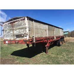 Doepker Wood Sided Grain Trailer, VIN 2D9FDSA26J1016460