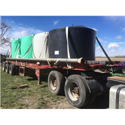 Doepker Flatdeck Tri-axle Trailer 9000 Kg, with 4000 Gal Liquid Tanks