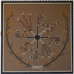 NAVAJO INDIAN SAND PAINTING (CASTILLE)