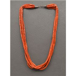 PUEBLO INDIAN CORAL NECKLACE
