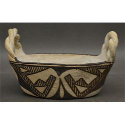 ACOMA INDIAN POTTERY BASKET