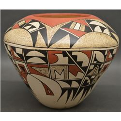 HOPI INDIAN POTTERY JAR (SILAS)