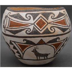 ZUNI INDIAN POTTERY JAR (NAHOHAI)