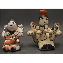 TWO PUEBLO INDIAN POTTERY STORY TELLERS