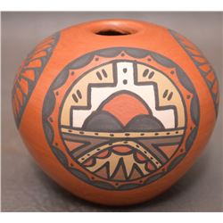 SANTA CLARA INDIAN POTTERY SEED JAR (VIGIL)